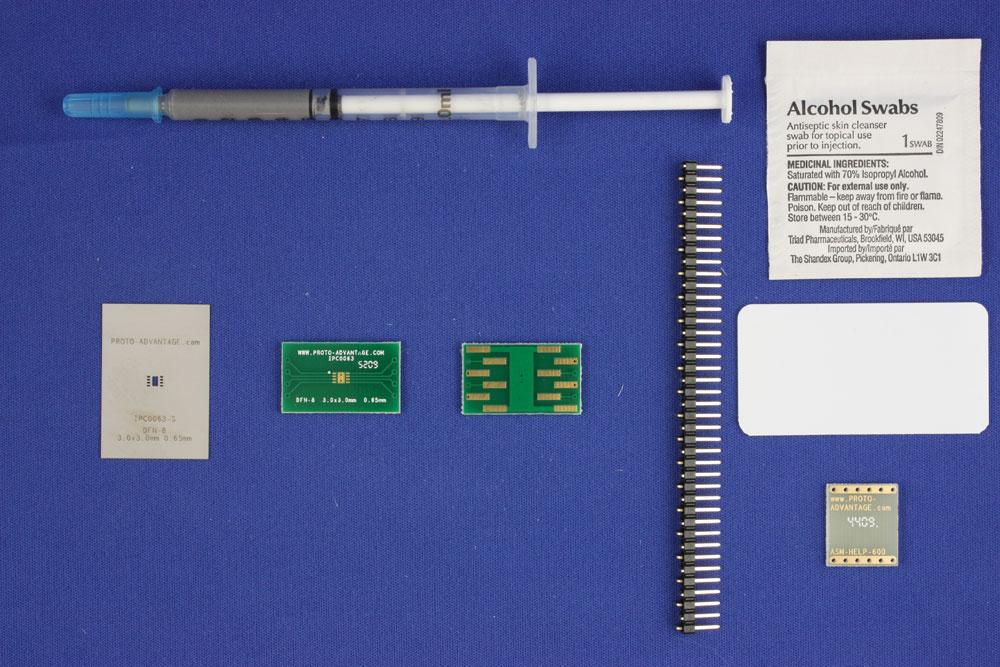 DFN-8 (0.65 mm pitch, 3.0 x 3.0 mm body) PCB and Stencil Kit 0