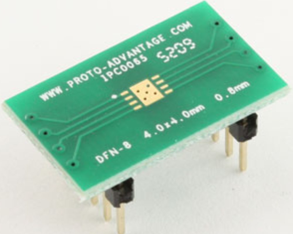 DFN-8 to DIP-12 SMT Adapter (0.8 mm pitch, 4.0 x 4.0 mm body) 0