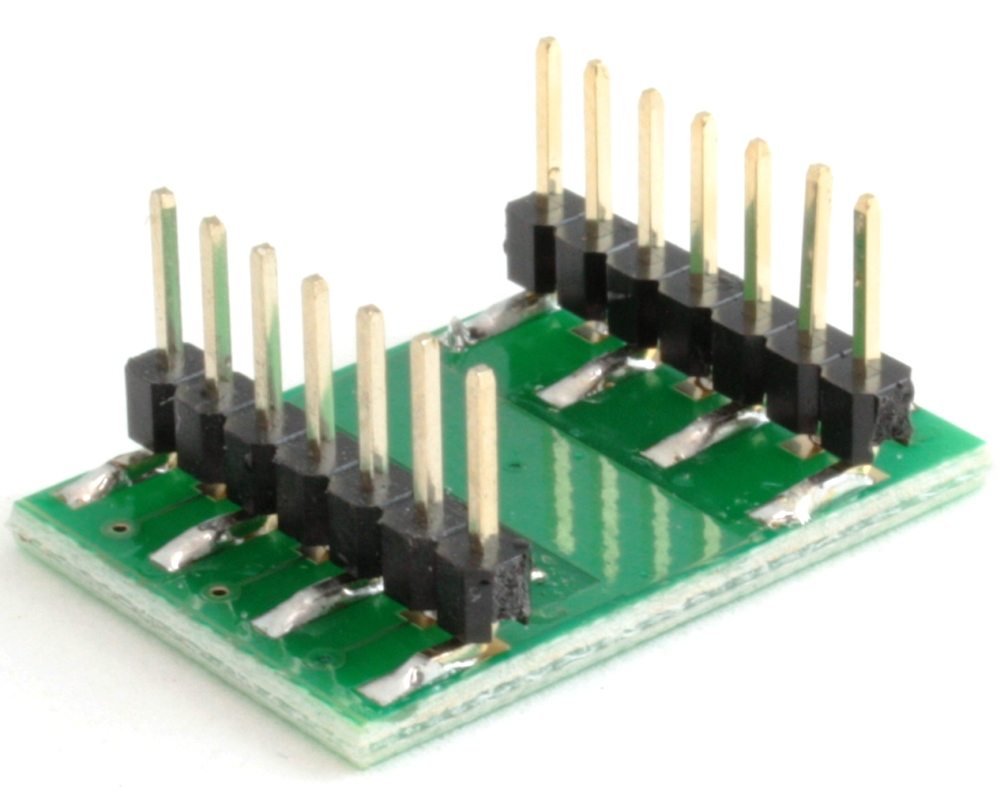 DFN-10 to DIP-14 SMT Adapter (0.5 mm pitch, 3.0 x 3.0 mm body) 1