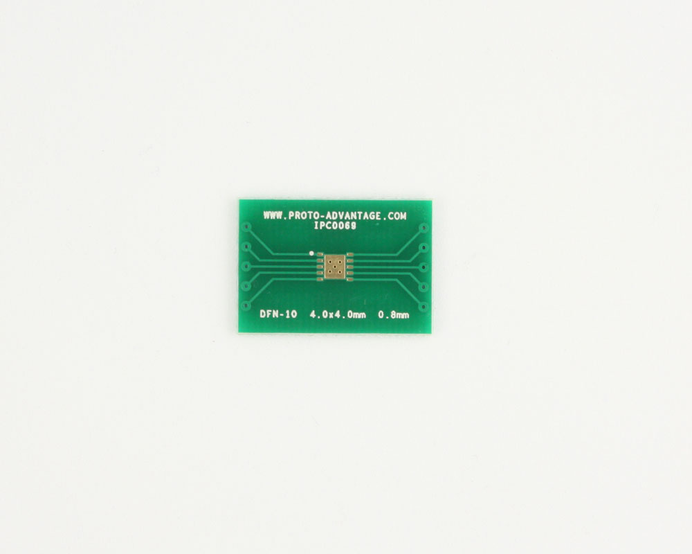 DFN-10 to DIP-14 SMT Adapter (0.8 mm pitch, 4.0 x 4.0 mm body) 2