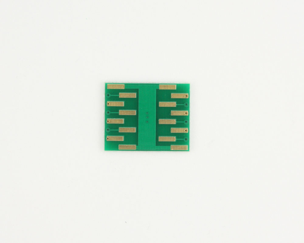 DFN-12 to DIP-16 SMT Adapter (0.5 mm pitch, 4.0 x 3.0 mm body) 1