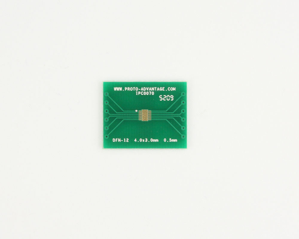DFN-12 to DIP-16 SMT Adapter (0.5 mm pitch, 4.0 x 3.0 mm body) 2