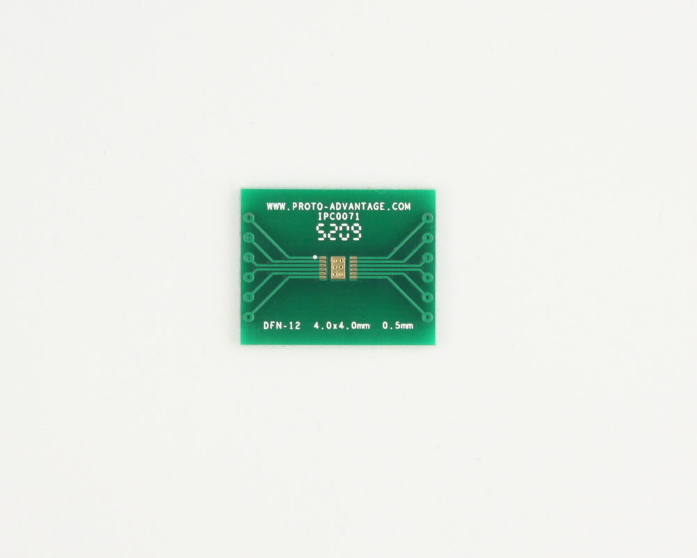 DFN-12 to DIP-16 SMT Adapter (0.5 mm pitch, 4.0 x 4.0 mm body) 2