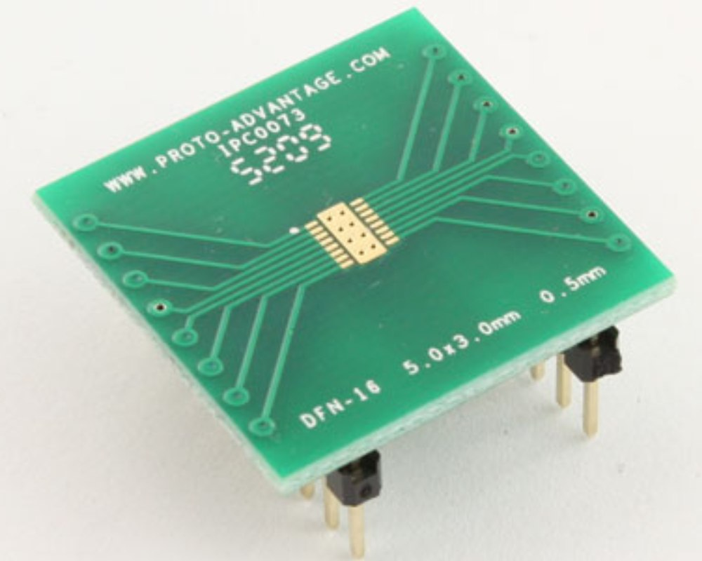 DFN-16 to DIP-20 SMT Adapter (0.5 mm pitch, 5.0 x 3.0 mm body) 0