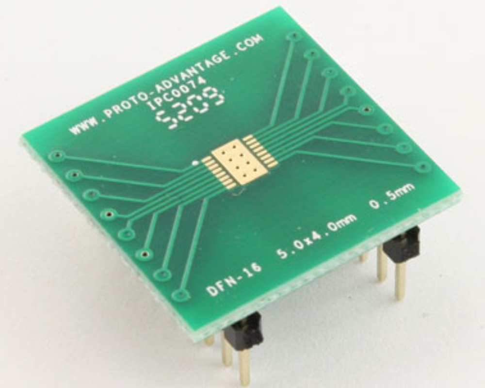 DFN-16 to DIP-20 SMT Adapter (0.5 mm pitch, 5.0 x 4.0 mm body) 0