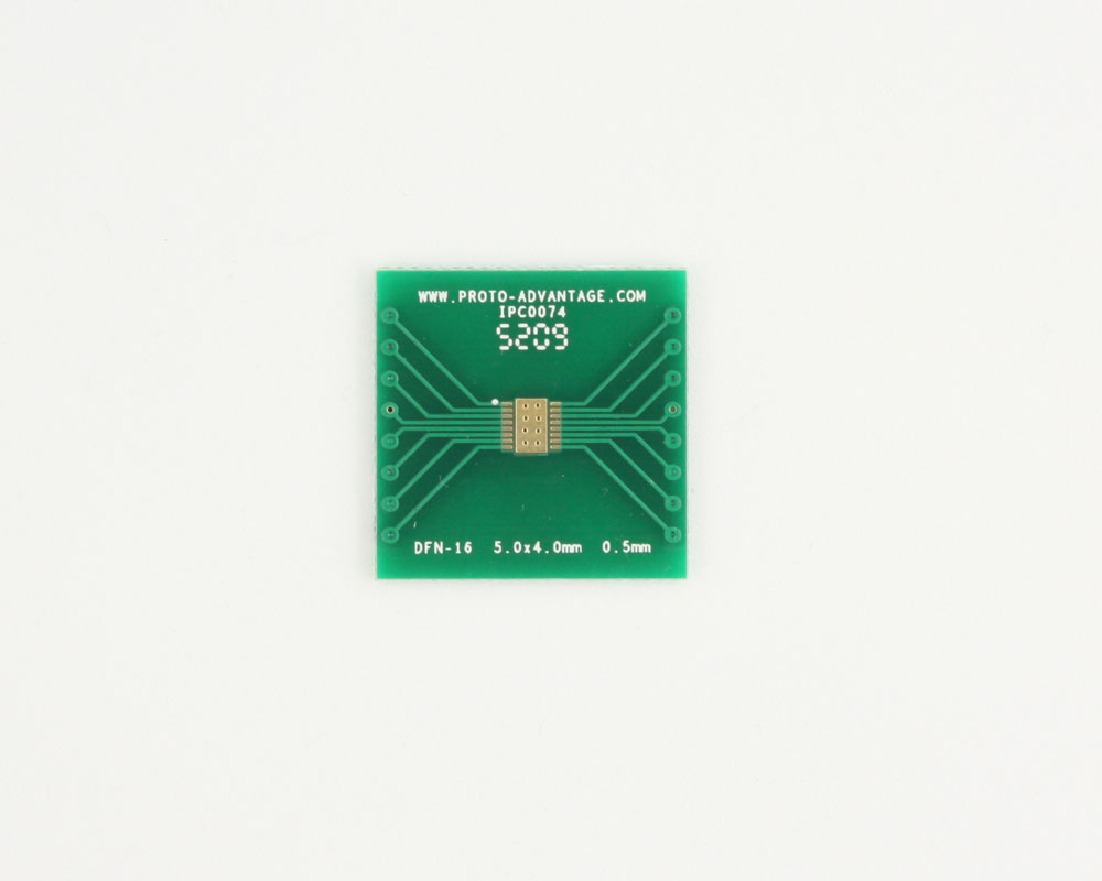 DFN-16 to DIP-20 SMT Adapter (0.5 mm pitch, 5.0 x 4.0 mm body) 2