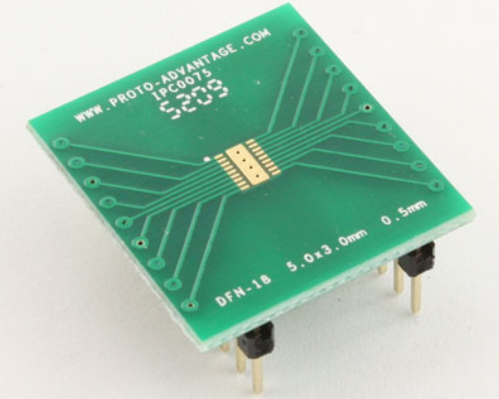 DFN-18 to DIP-22 SMT Adapter (0.5 mm pitch, 5.0 x 3.0 mm body) 0