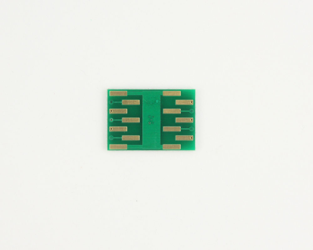 MSOP-10 to DIP-14 SMT Adapter (0.5 mm pitch, 3.0 x 3.0 mm body) 1