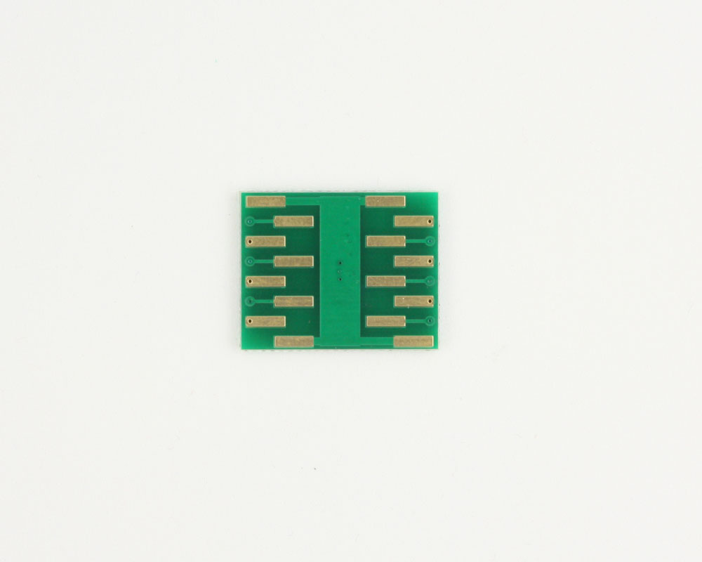 MSOP-12 to DIP-16 SMT Adapter (0.65 mm pitch, 4.0 x 3.0 mm body) 1