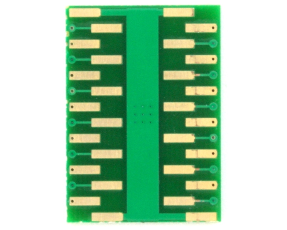 QFN-24 to DIP-28 SMT Adapter (0.65 mm pitch, 5.0 x 5.0 mm body, 3.6 x 3.6 mm pad 1