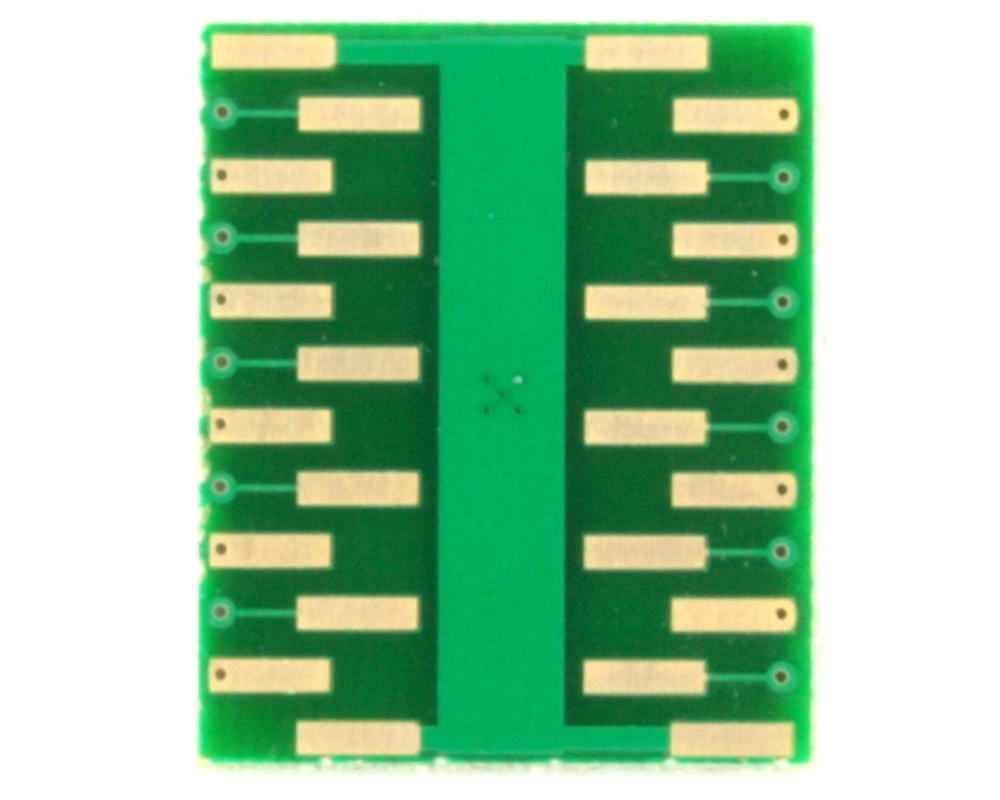 QFN-20 to DIP-24 SMT Adapter (0.5 mm pitch, 4.0 x 4.0 mm body, 2.5 x 2.5 mm pad) 1