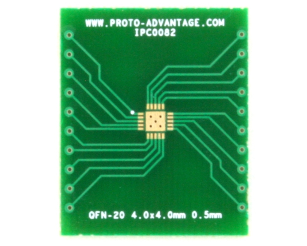 QFN-20 to DIP-24 SMT Adapter (0.5 mm pitch, 4.0 x 4.0 mm body, 2.5 x 2.5 mm pad) 2