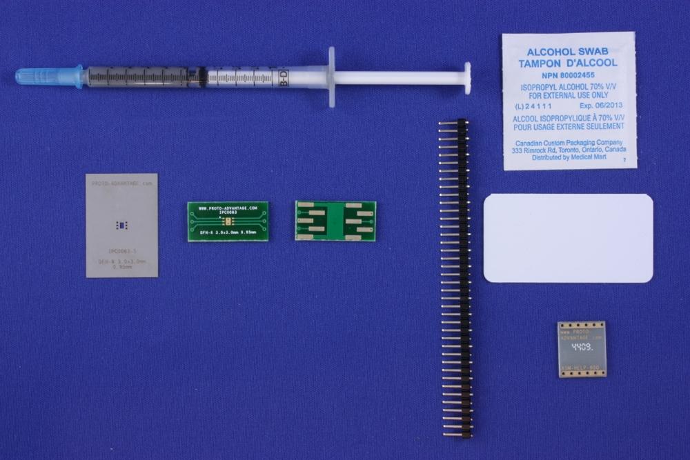 DFN-6 (0.95 mm pitch, 3.0 x 3.0 mm body) PCB and Stencil Kit 0