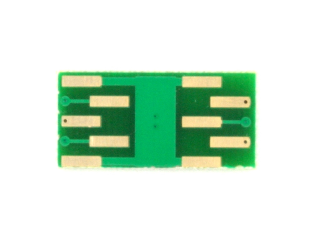 DFN-6 to DIP-10 SMT Adapter (0.95 mm pitch, 3.0 x 3.0 mm body) 1