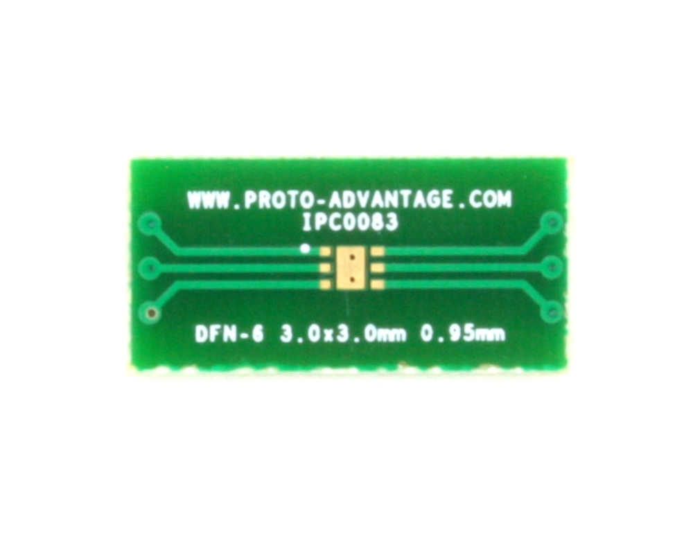 DFN-6 to DIP-10 SMT Adapter (0.95 mm pitch, 3.0 x 3.0 mm body) 2
