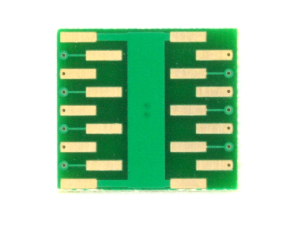 DFN-14 to DIP-18 SMT Adapter (0.4 mm pitch, 3.0 x 3.0 mm body) 1