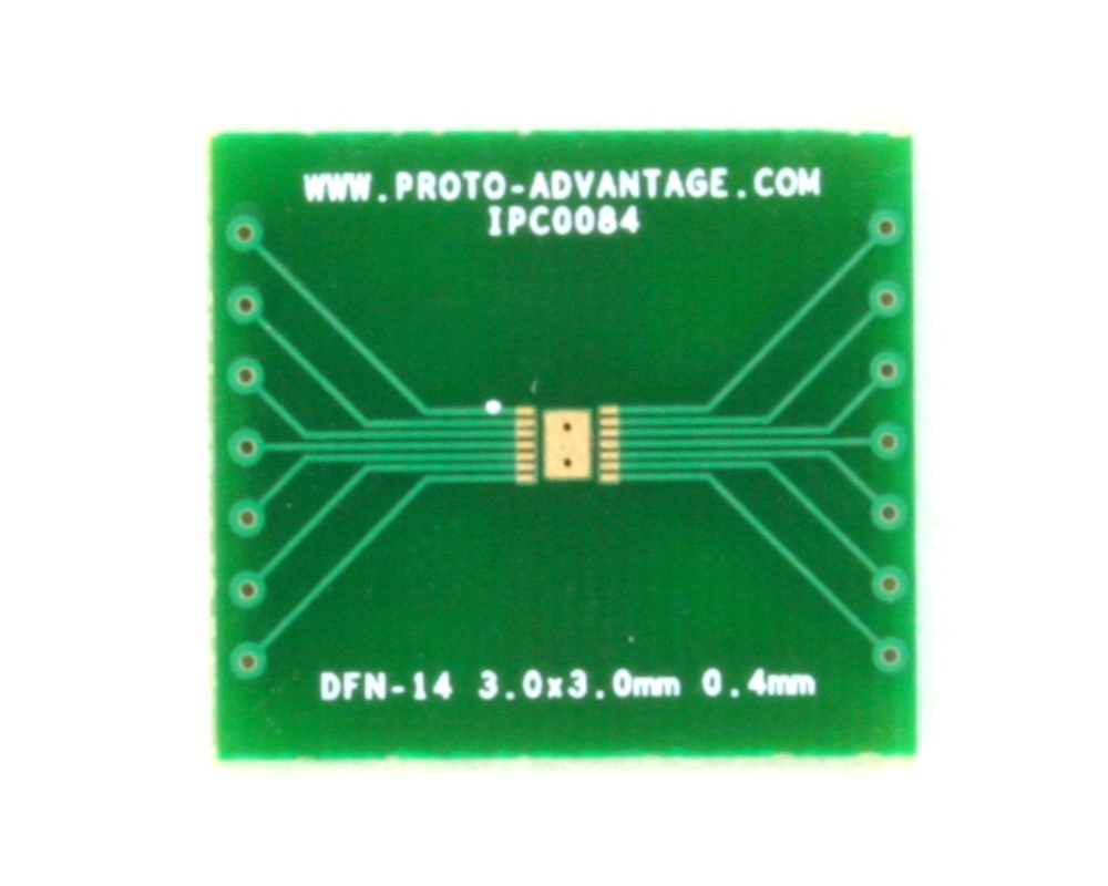 DFN-14 to DIP-18 SMT Adapter (0.4 mm pitch, 3.0 x 3.0 mm body) 2