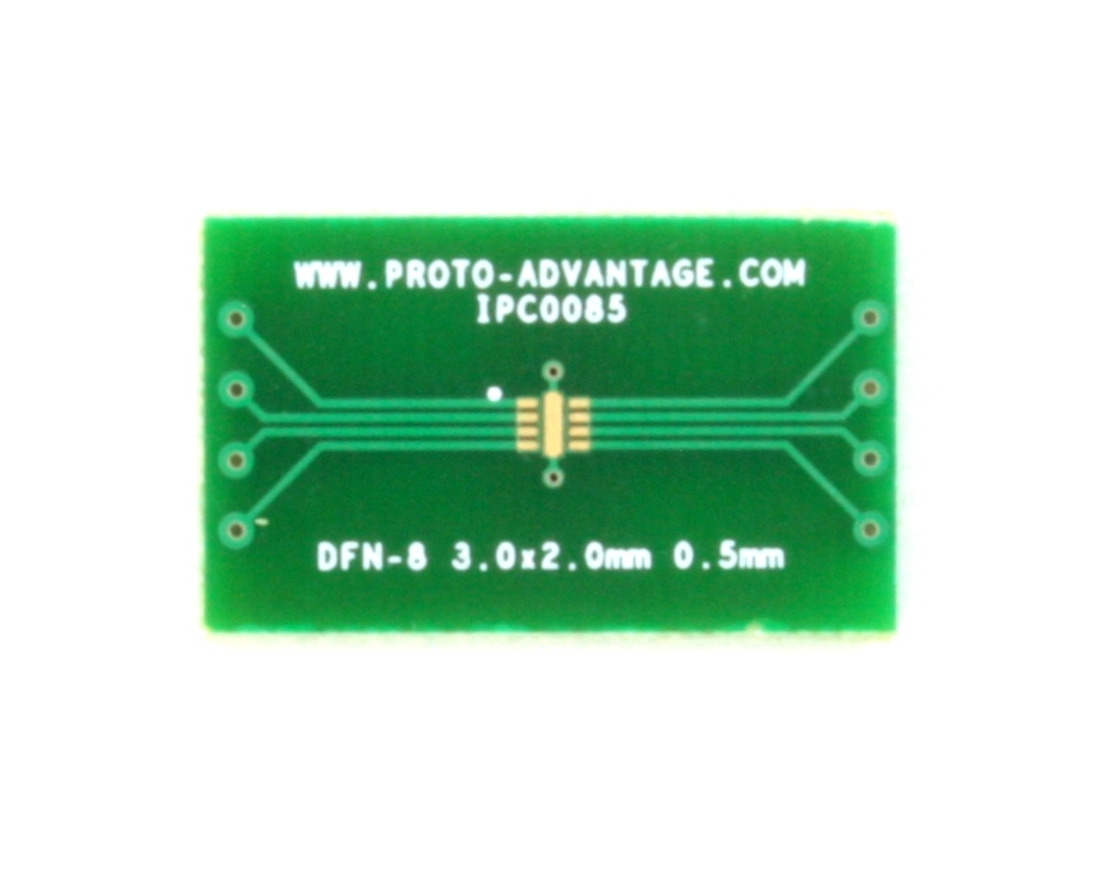 DFN-8 to DIP-12 SMT Adapter (0.5 mm pitch, 3.0 x 2.0 mm body) 2