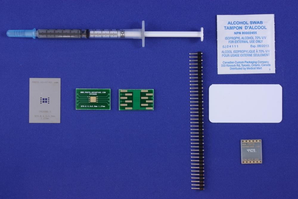 DFN-8 (1.27 mm pitch, 6.0 x 5.0 mm body) PCB and Stencil Kit 0