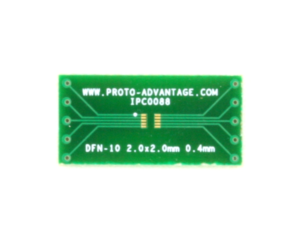 DFN-10 to DIP-10 SMT Adapter (0.4 mm pitch, 2.0 x 2.0 mm body) 2