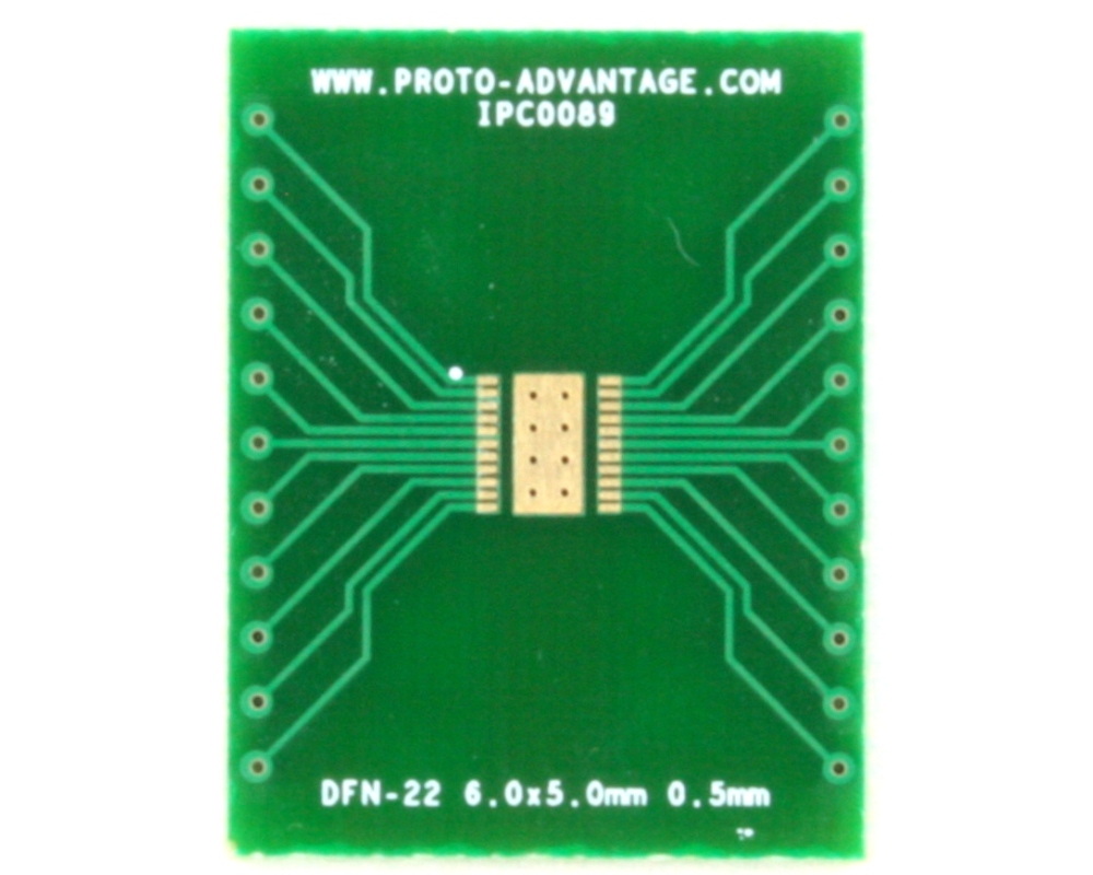 DFN-22 to DIP-26 SMT Adapter (0.5 mm pitch, 6.0 x 5.0 mm body) 2