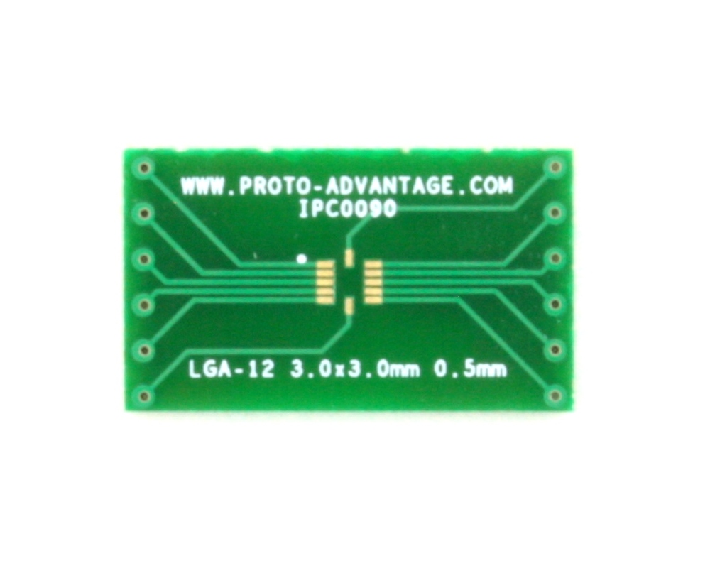 LGA-12 to DIP-12 SMT Adapter (0.5 mm pitch, 3.0 x 3.0 mm body) 2