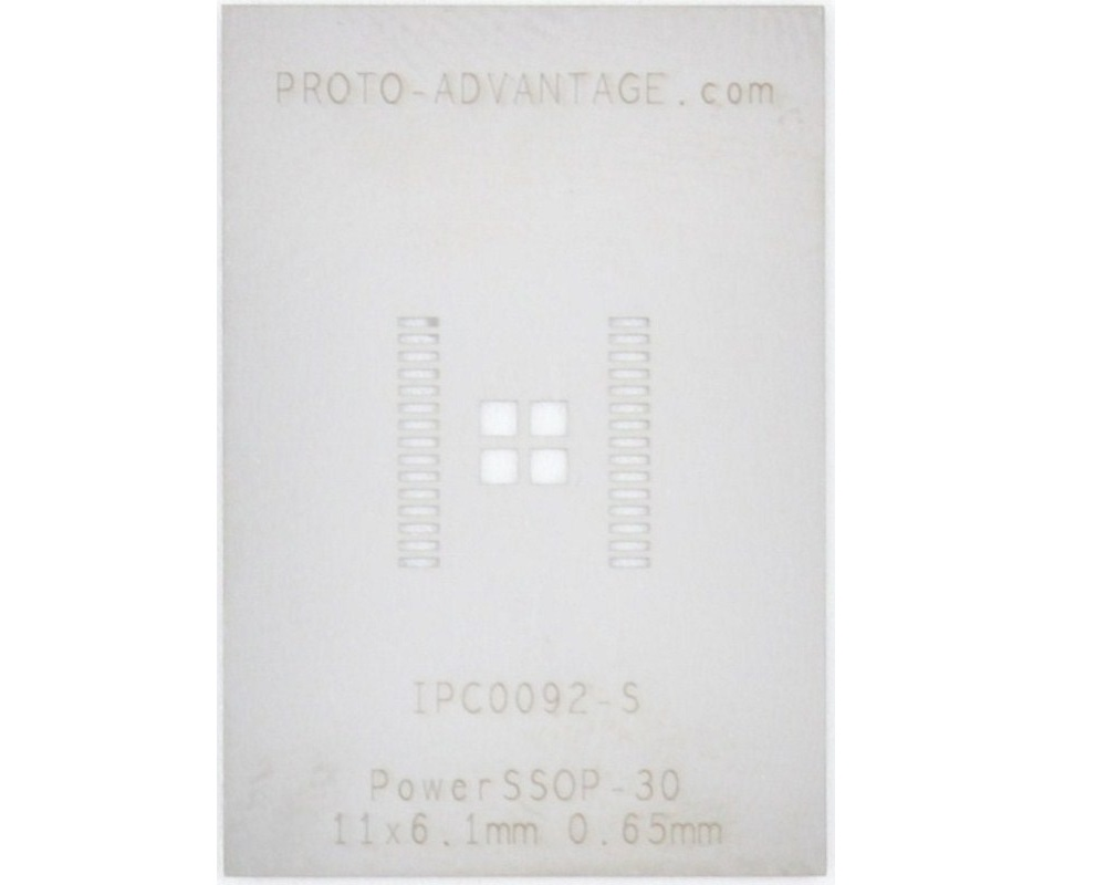 PowerSSOP-30 (0.65 mm pitch, 11.0 x 6.1 mm body) Stencil 0