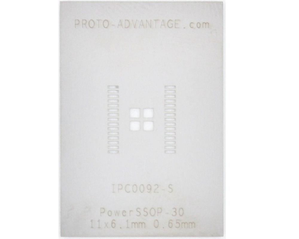 PowerSSOP-30 (0.65 mm pitch, 11.0 x 6.1 mm body) Stencil 0