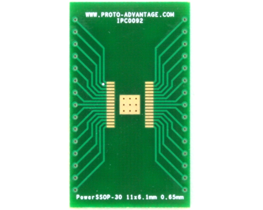 PowerSSOP-30 to DIP-34 SMT Adapter (0.65 mm pitch, 11 x 6.1 mm) 2