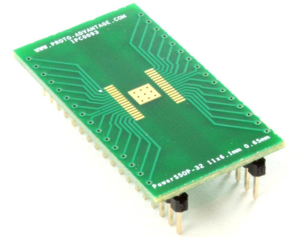 PowerSSOP-32 to DIP-36 SMT Adapter (0.65 mm pitch, 11 x 6.1 mm) 0