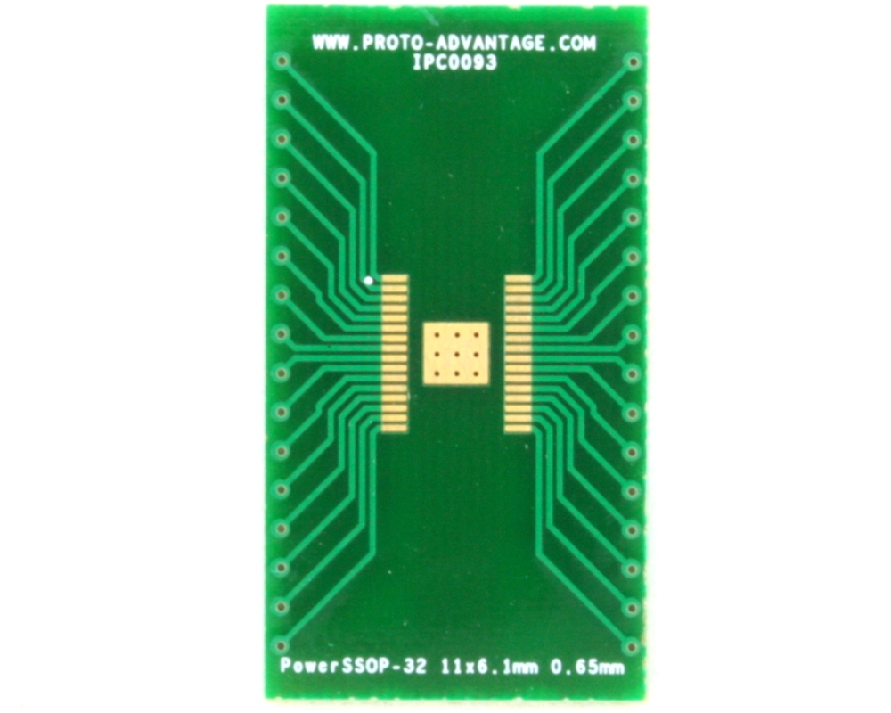 PowerSSOP-32 to DIP-36 SMT Adapter (0.65 mm pitch, 11 x 6.1 mm) 2