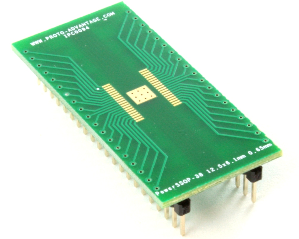PowerSSOP-38 to DIP-42 SMT Adapter (0.65 mm pitch, 12.5 x 6.1mm) 0
