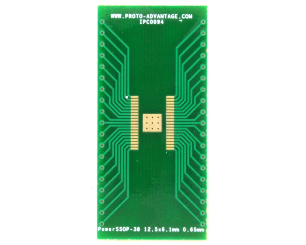 PowerSSOP-38 to DIP-42 SMT Adapter (0.65 mm pitch, 12.5 x 6.1mm) 2