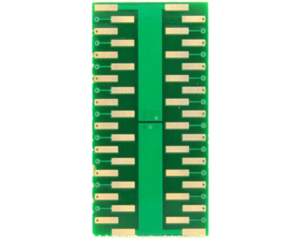 QFN-36 to DIP-40 SMT Adapter (0.5 mm pitch, 5.0 x 6.0 body, 3.45x4.57 split pad) 3