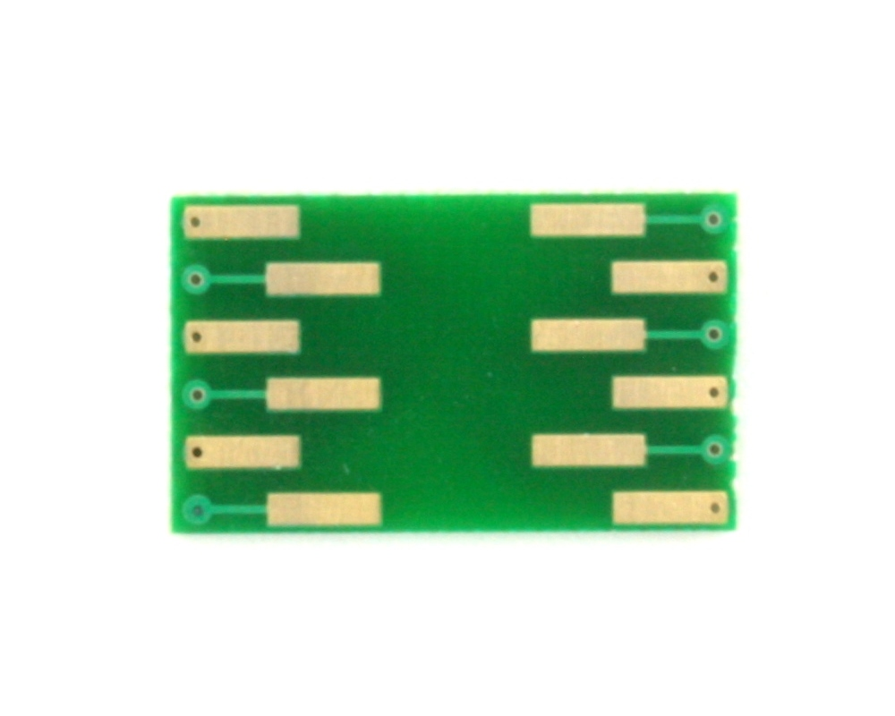 LGA-12 to DIP-12 SMT Adapter (0.5 mm pitch, 2.0 x 2.0 mm body) 1