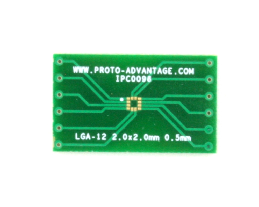LGA-12 to DIP-12 SMT Adapter (0.5 mm pitch, 2.0 x 2.0 mm body) 2