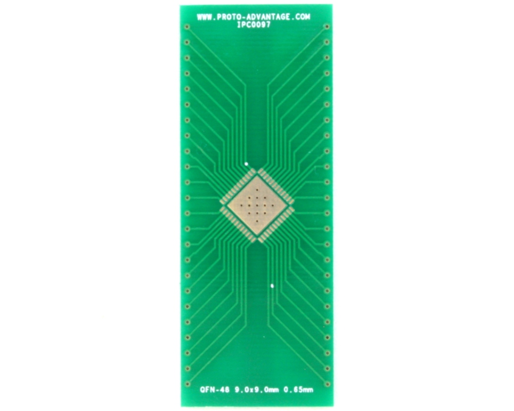 QFN-48 to DIP-52 SMT Adapter (0.65 mm pitch, 9.0 x 9.0 mm body, 6.8 x 6.8 mm pad 2