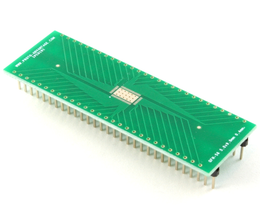 LFCSP-56 to DIP-60 SMT Adapter (0.4 mm pitch, 5.0 x 9.0 mm body) 0