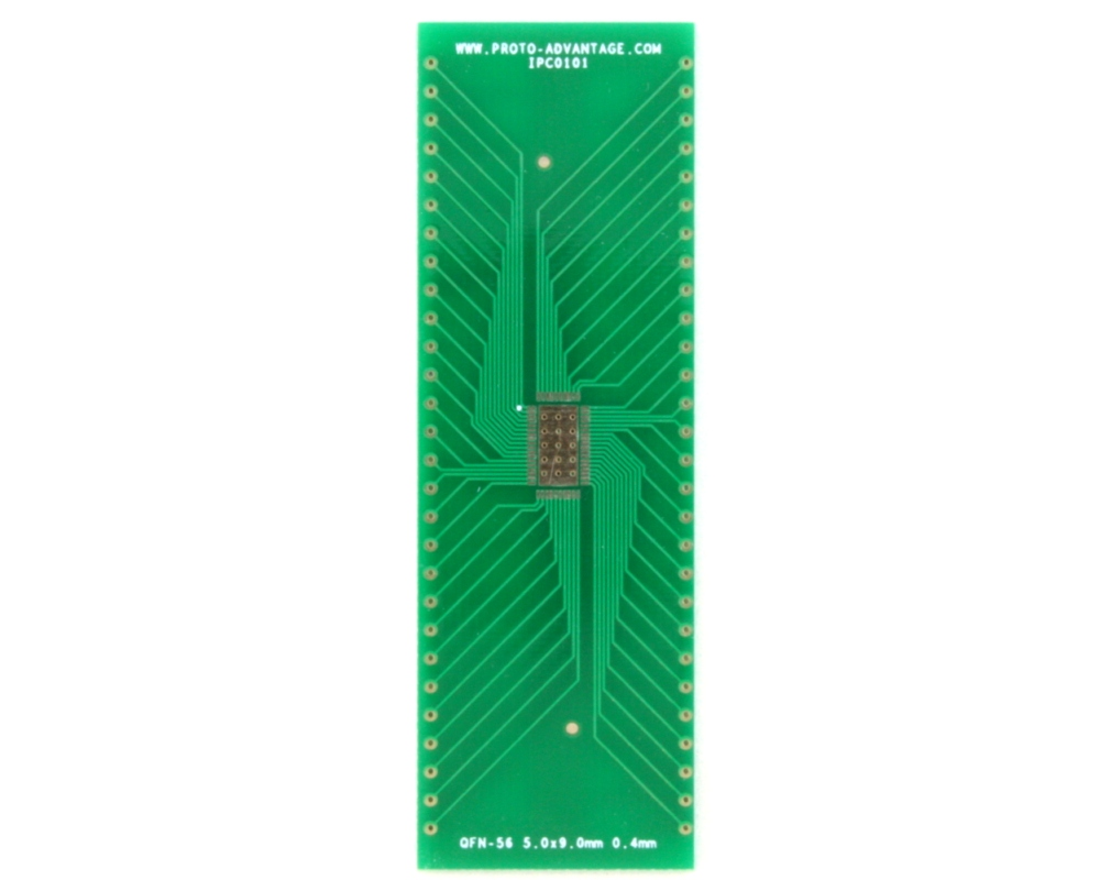 LFCSP-56 to DIP-60 SMT Adapter (0.4 mm pitch, 5.0 x 9.0 mm body) 2