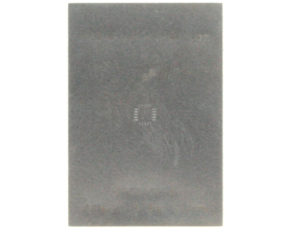 QFN-20 (0.4 mm pitch, 3.0 x 3.0 mm body) Stainless Steel Stencil 0