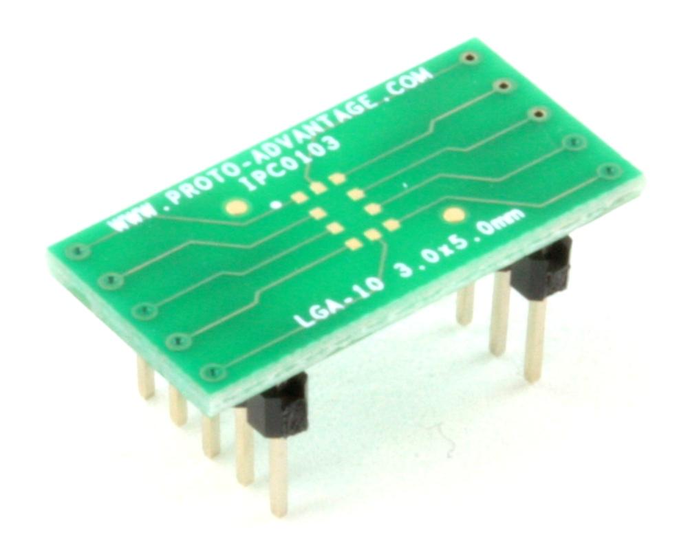 LGA-10 to DIP-10 SMT Adapter (3.0 x 5.0 mm body) 0