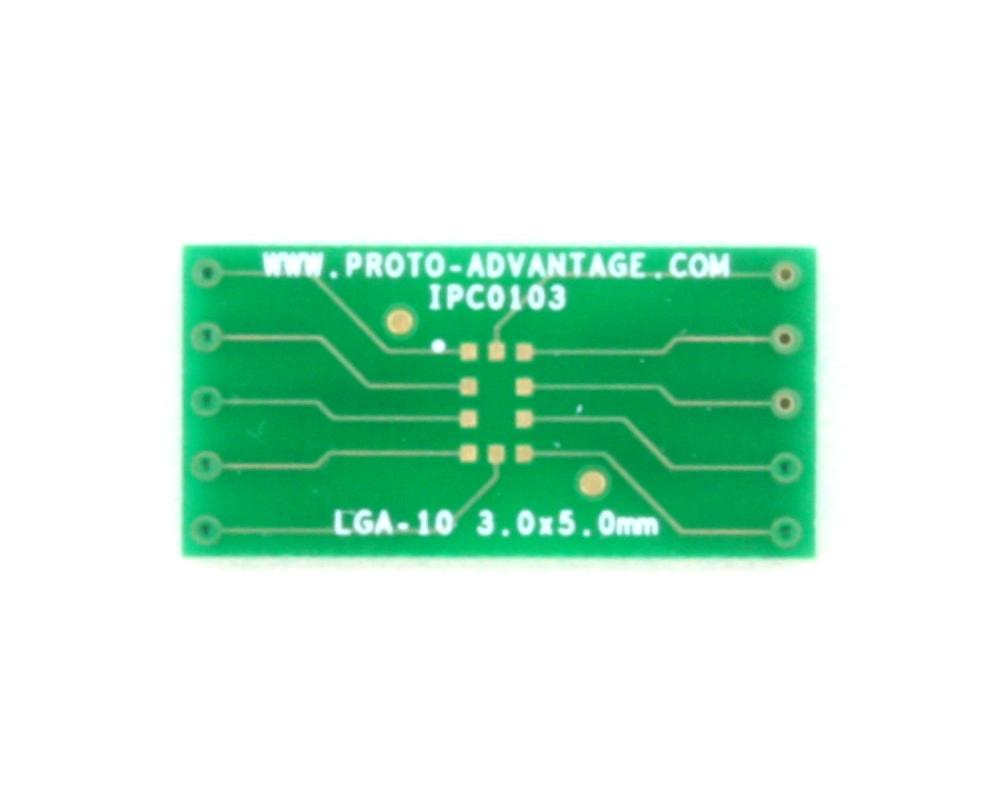 LGA-10 to DIP-10 SMT Adapter (3.0 x 5.0 mm body) 2