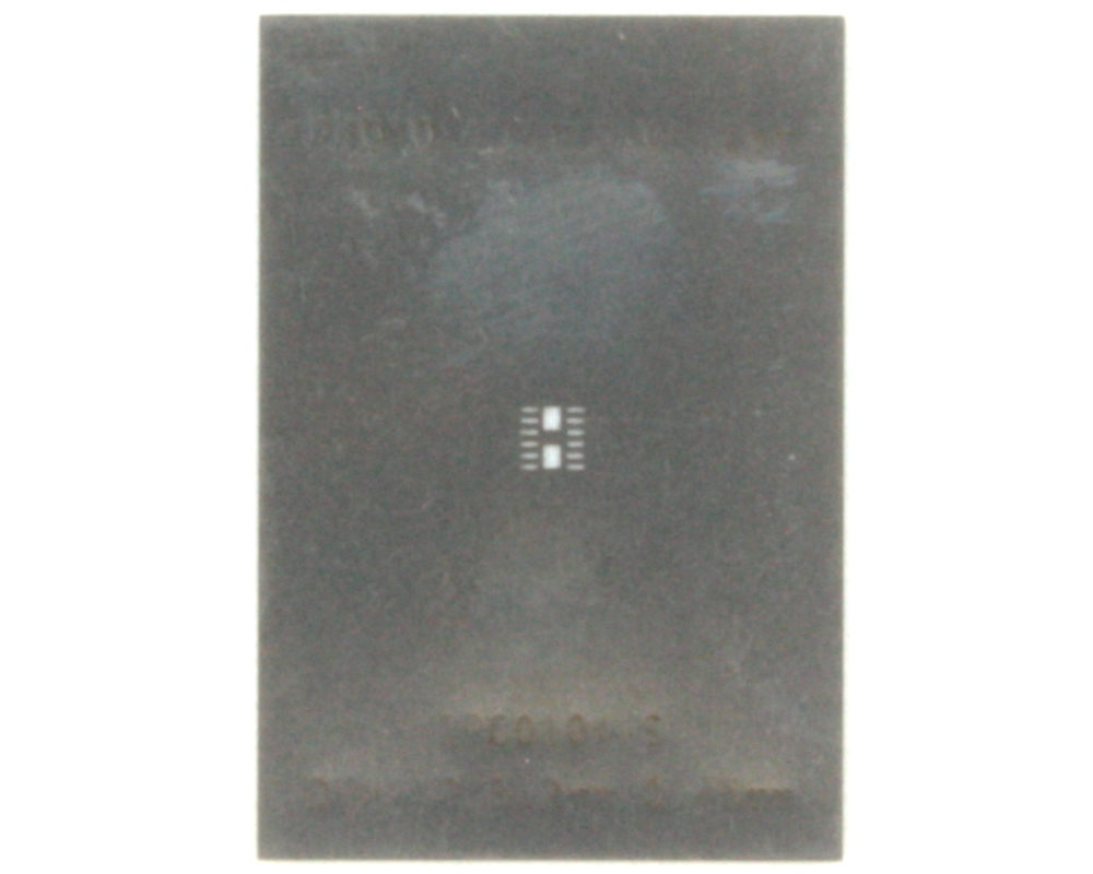 DFN-12 (0.45 mm pitch, 3.0 x 2.0 mm body) Stainless Steel Stencil 0