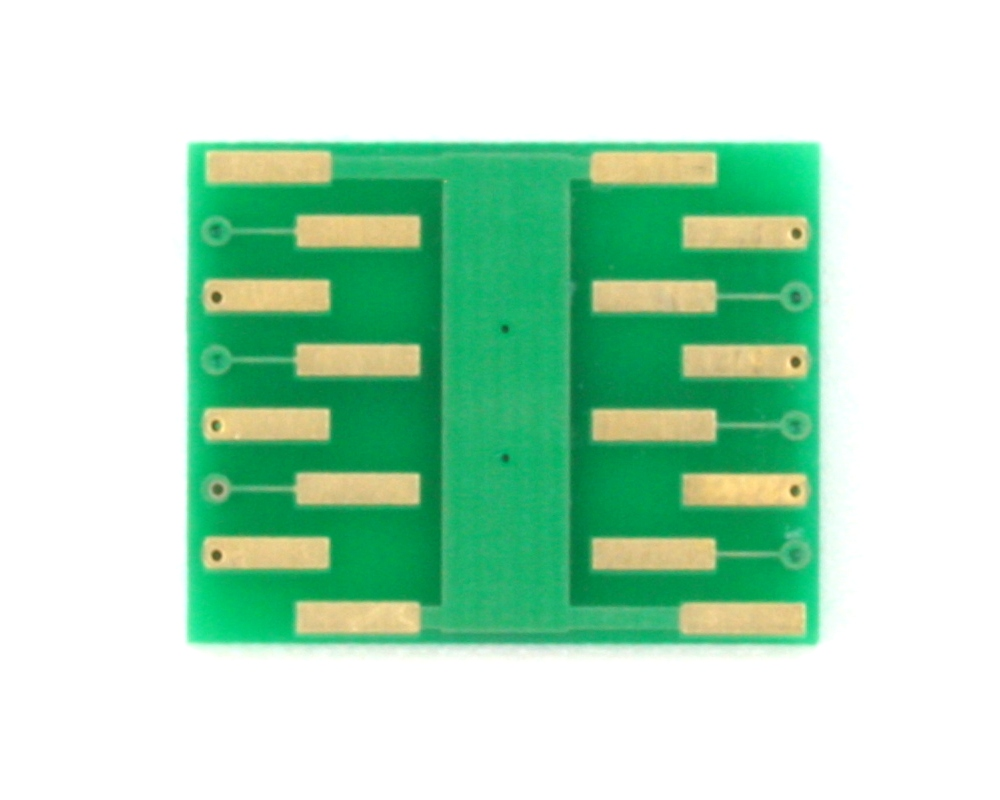 DFN-12 to DIP-16 SMT Adapter (0.45 mm pitch, 3.0 x 2.0 mm body) 1