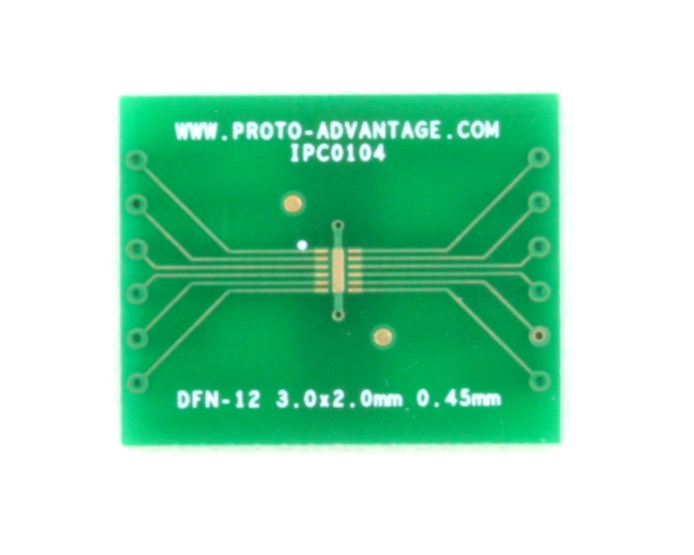 DFN-12 to DIP-16 SMT Adapter (0.45 mm pitch, 3.0 x 2.0 mm body) 2
