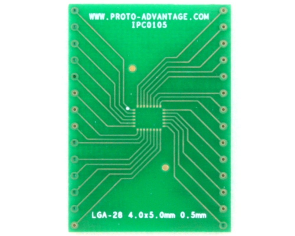 LGA-28 to DIP-28 SMT Adapter (0.5 mm pitch, 4.0 x 5.0 mm body) 2
