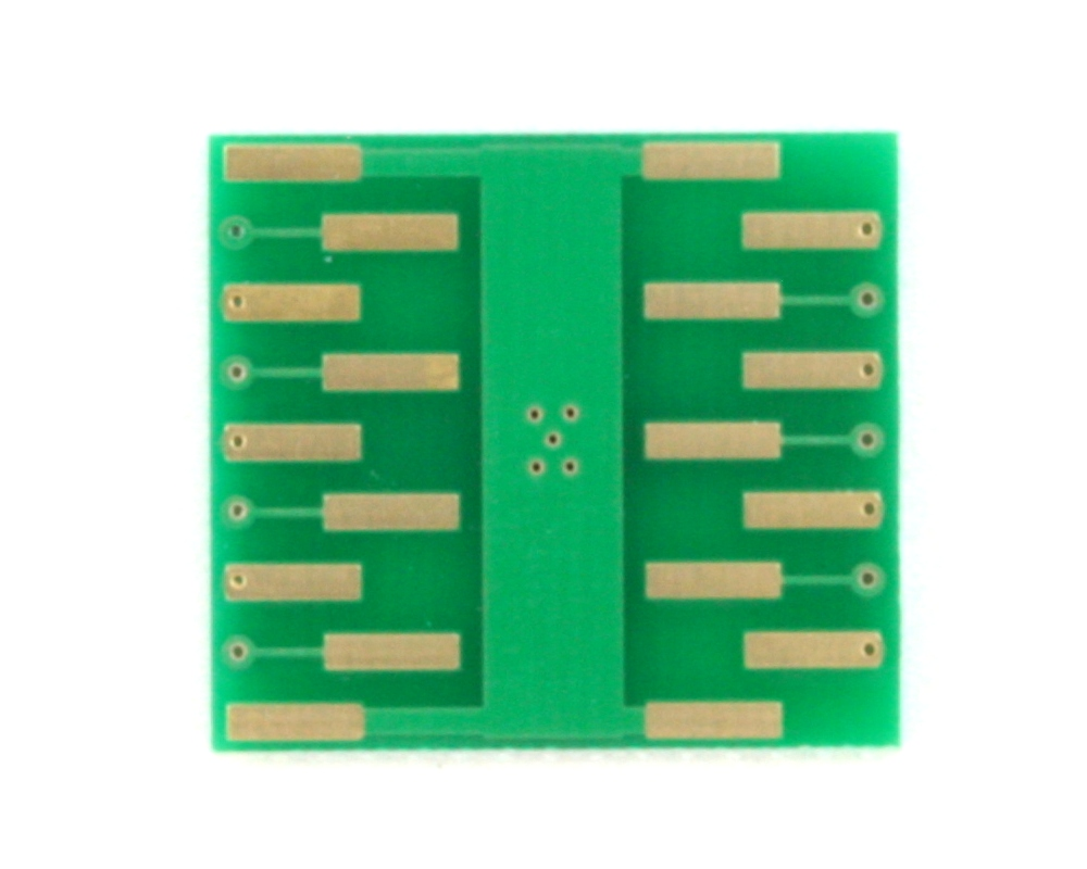 DFN-14 to DIP-18 SMT Adapter (0.5 mm pitch, 4.0 x 4.0 mm body) 1