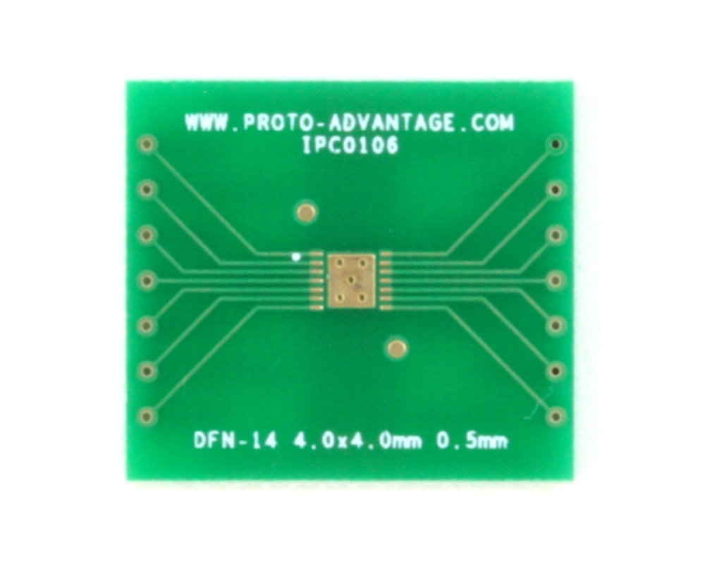 DFN-14 to DIP-18 SMT Adapter (0.5 mm pitch, 4.0 x 4.0 mm body) 2
