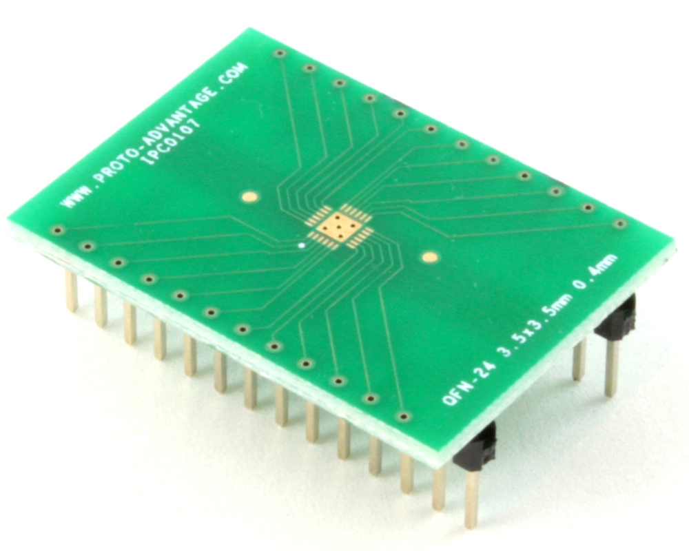 QFN-24 to DIP-28 SMT Adapter (0.4 mm pitch, 3.5 x 3.5 mm body) 0