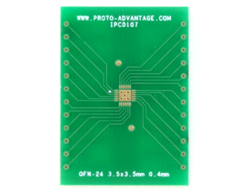 QFN-24 to DIP-28 SMT Adapter (0.4 mm pitch, 3.5 x 3.5 mm body) 2
